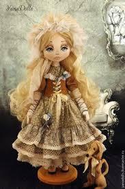 Veronika. Текстильная куколка, 46 см. Стоит с помощью ...