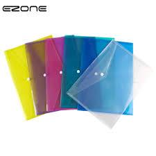 <b>EZONE A4</b> Plastic Clip Folder 5 Colors Transparent Loose leaf ...
