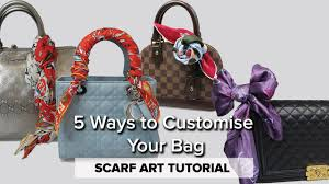How to Tie a Scarf to a Handbag // 5 STYLES - YouTube