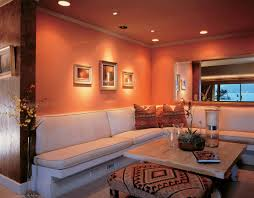 orange gallery living room