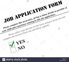checked box on yes on job application form stock photo royalty checked box on yes on job application form