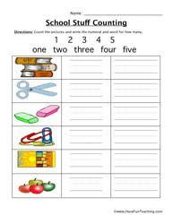 Counting Worksheets - Have Fun TeachingSchool Counting Worksheet