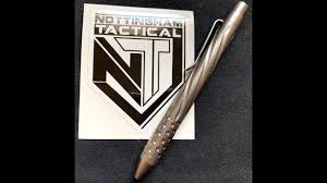Nottingham <b>Tactical Ti</b> Clicker <b>pen Spiral</b> Fluted w/ Dots - YouTube