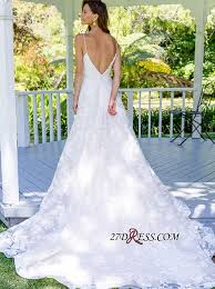Classical White <b>Spaghetti Strap Sleeveless</b> Wedding Dress | <b>2019</b> A ...