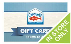 Captain DS Gift Card Gift Cards Restaurants