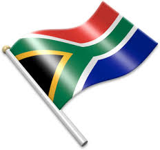 Image result for waving south african flag