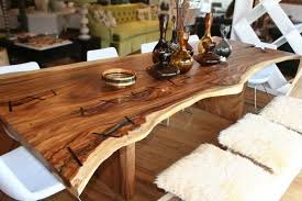 wood slab dining table beautiful: contemporary dining room with hardwood floors russian olive wood slab beautiful shape solid