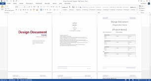 design document ms word template design document template ms word red theme
