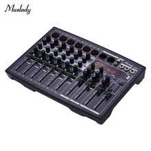 Muslady BX6 компактный комплект из 6 <b>микшер</b> каналов ...