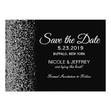 Elegant Black & White <b>Diamond Wedding</b> Save Date <b>Card</b> ...