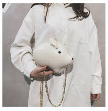LJT <b>Creative</b> Chain Shoulder Messenger Bag Funny Cute Pig ...