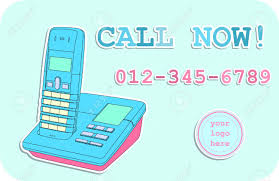 call now a modern advertisement template line drawing of a modern advertisement template line drawing of telephone space for your