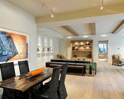 basement design fantastic basement track lighting combined with wooden dining table and black chairs great basement lighting track lighting track