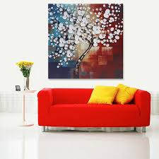 Framed Modern Abstract Tree <b>Flowers Art</b> Canvas Print Painting ...