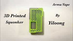 กล่องบีบ 3d Printed Squonker จากค่าย <b>Yiloong</b> Vape (Arma Vape ...