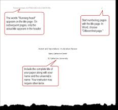 Check It Out: APA: Anatomy of a Title Page Title page for your APA paper got you stumped? Here's the basic anatomy of the first page of a paper written in APA style. See the PDF handout on Formatting ...