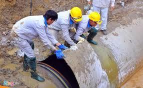 Image result for vở ống nước sông đà