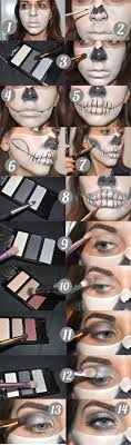 makeuptutorial half skeleton makeup you skeleton makeup by lekstedt the best ideas apply your foundation first focusing more on top half