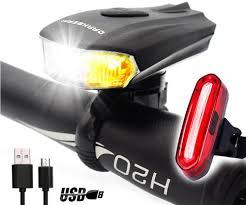 DARKBEAM Horn <b>Bicycle Headlight Tail Light</b> Kit 250 Lumens ...
