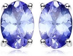 <b>JewelryPalace</b> 925 Sterling Silver 1ct Natural Tanzanite <b>Stud Earrings</b>