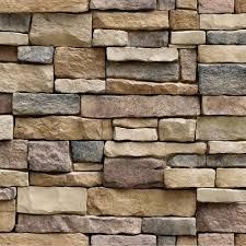3d Uneven Brick <b>Stone Print Wall</b> Sticker <b>House</b> Decoration 45 ...