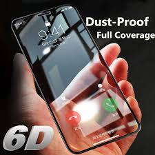 <b>6D</b> Curved Edge Premium For Apple iPhone X 10 <b>Dust</b> Proof <b>Glass</b> ...