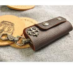 Men Vintage <b>Original Handmade</b> Leather <b>Car Key</b> Holder Wallet ...