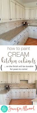 painted kitchen cabinets vintage cream: how to paint cream kitchen cabinets so the finish will be durable cabinet painting tips