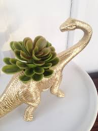 designer style dinosaur planter ♥ parties dinomite dinosaurs diy and crafts