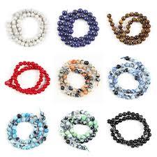 <b>6 8 10mm Natural</b> Quartz <b>Stones</b> beads for jewelry making Diy ...