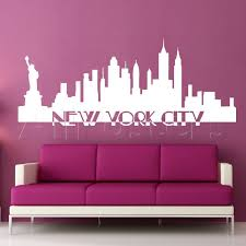york wall decal city