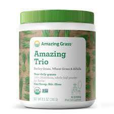 <b>Amazing Trio</b> - <b>Barley Grass</b>, Wheat Grass, Alfalfa – Amazing Grass