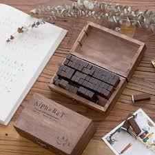 <b>70 pcs</b>/<b>Set Number Letter</b> English decoration stamp set wooden ...