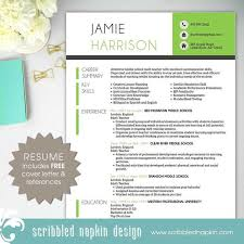 teacher resume template   resume   free cover letter and    teacher resume template   resume   free cover letter and references   instant download   ms
