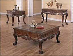 A!! Detail <b>4 Pc</b> Brown End Table X (2), <b>Coffee Table</b> & Sofa Table ...
