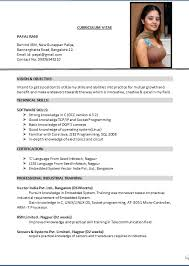 download the resume format  seangarrette co  the resume format
