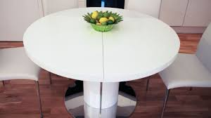 round white marble dining table: extendable expandable dining table set in white with round table