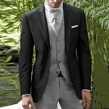 <b>Black Men</b> Suits Grey Pants Men Wedding Tuxedos <b>Italian Custom</b> ...