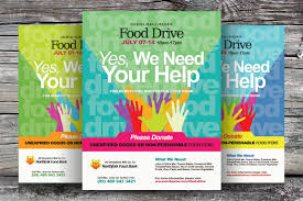 food drive flyer template teamtractemplate s food drive flyer templates flyer templates on creative market fka3zsnc