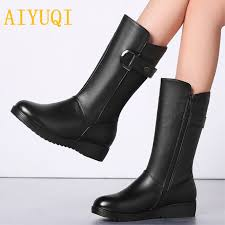 aiyuqi winter women chelsea boots 2019 new genuine leather suede boots wool snow women trend martin