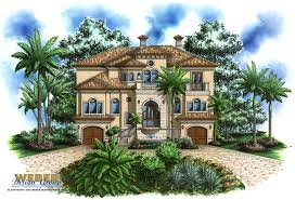 Tropical home plan  Tropical House plan   Weber Design Group    Casa Bella House Plan Tropical Home Plans