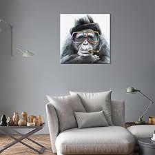 <b>Pure Hand Painted WALL</b> ARTS Modern Framed Gorilla Monkey Oil ...