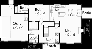 Two Story House Plans  Bedroom House Plans  Master On The MainMain Floor Plan for Two story house plans  bedroom house plans  master
