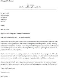 covering letter for an it support technician sample technology cover letter