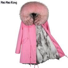 Online Shop <b>FURSARCAR</b> 2019 <b>Real</b> Fur Coat Long Parka <b>New</b> ...