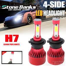 4-Sided <b>72W 16000LM 9008 H13</b> LED Headlight Lamp Bulbs ...
