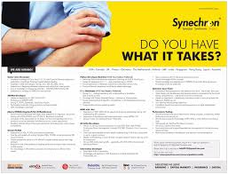 jobs in synechron vacancies in synechron opportunities at paperthumb