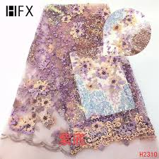 <b>HFX</b> African <b>Lace</b> Fabric 2019 High Quality Onion Color French Net ...