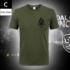 MEGE Brand Tactical French Army T shirt <b>Legion Printing</b> Cotton ...