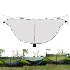 outdoor portable hammock for backpacking camping hiking hanging picnicing bed with mosquito net comfortable rest